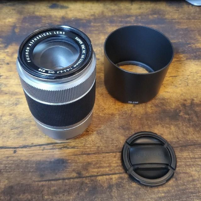 富士フイルム(フジフイルム)のFUJIFILM XC50-230mmF4.5-6.7 OIS シルバー スマホ/家電/カメラのカメラ(レンズ(ズーム))の商品写真