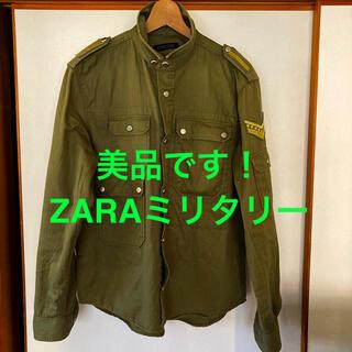 ザラ(ZARA)の美品です!ZARA MEN  ヘビーウエイト コットン ミリタリー ジャケット(ミリタリージャケット)