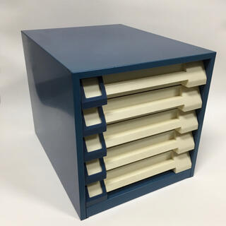 プラス(PLUS)のレトロ 書類ケース スチール A4 丈夫 レターケース マグネット引き出し(オフィス収納)