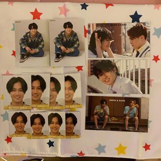 ジャニーズジュニア(ジャニーズJr.)の松田元太 デタカ&厚紙カード(アイドルグッズ)