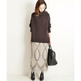 IENA - イエナ♡パネルレースロングスカート 34