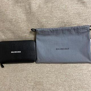 Balenciaga - バレンシアガ ラウンドファスナー 長財布 カーフ ブラック