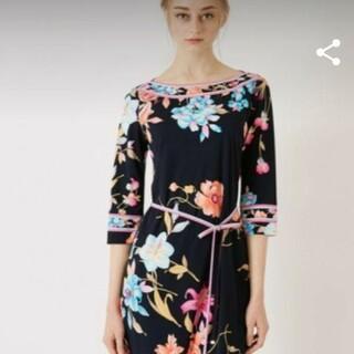 LEONARD - 新品 LEONARD レオナール 黒 花柄 ワンピース 42 2020 春夏