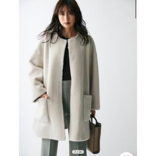 Mila Owen - milaowen ノーカラーシャツカーブボアジャケット