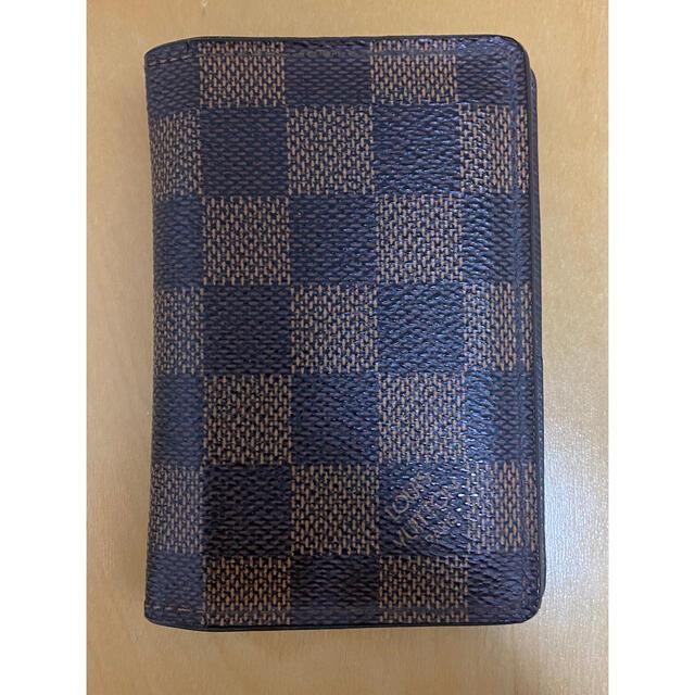 LOUIS VUITTON(ルイヴィトン)のルイヴィトン ダミエ 二つ折り財布 カードケース モノグラム メンズのファッション小物(名刺入れ/定期入れ)の商品写真