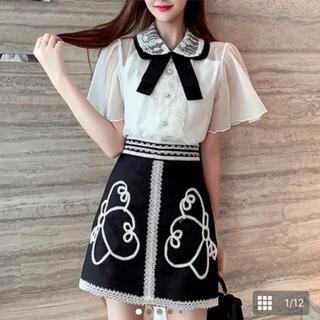スワンキス(Swankiss)のセレクトショップ ルミニョン 刺繍スカート(ミニスカート)