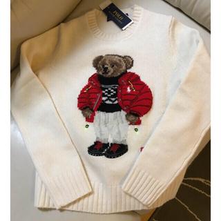 ポロラルフローレン(POLO RALPH LAUREN)のラルフローレン ベア オフホワイト ニット ポロベア セーター 羊毛(ニット/セーター)