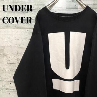 UNDERCOVER - 【超人気】アンダーカバー☆ビッグロゴ ブラック スウェット トレーナー