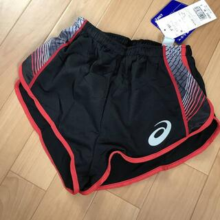 アシックス(asics)のランニングパンツ S XO サイズ 女子 黒 赤 asics ランパン(陸上競技)