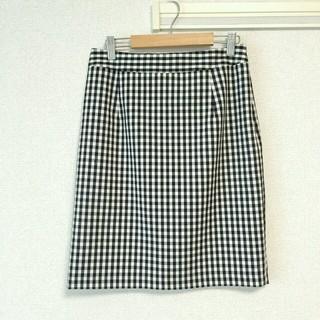 ナチュラルビューティーベーシック(NATURAL BEAUTY BASIC)のNNB チェック タイトスカート(ひざ丈スカート)