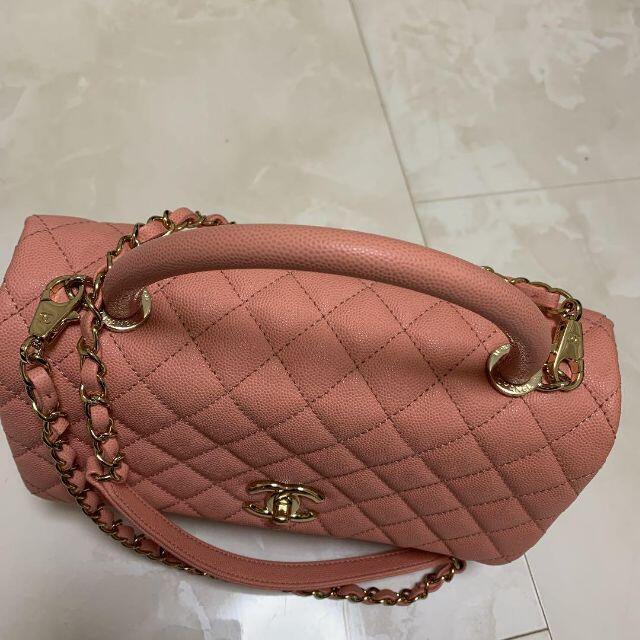 CHANEL(シャネル)のchanel ココバンドル ピンク シャンパンゴールド金具 レディースのバッグ(ショルダーバッグ)の商品写真