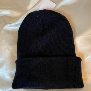 PRADA - PRADA プラダ ロゴ ニット帽  ビーニー ブラック 黒 帽子