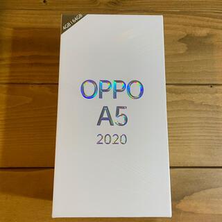 ラクテン(Rakuten)のOPPO A5 2020 グリーン 楽天モバイル SIMフリー(スマートフォン本体)