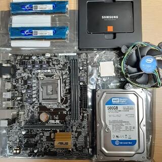 エイスース(ASUS)のH110M PLUS D3/G3900/840 250GB他セット販売(PCパーツ)