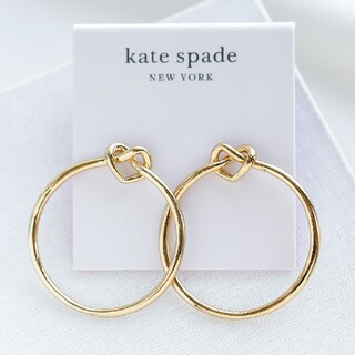 kate spade new york - 【新品♠︎本物】ケイトスペード ラブミーノットフープピアス ゴールド