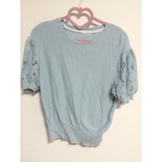 ジーユー(GU)の袖レーストップス(シャツ/ブラウス(半袖/袖なし))