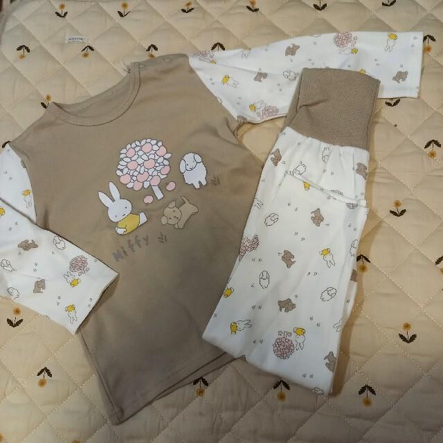 miffy 最新作 ミッフィー パジャマ キッズ/ベビー/マタニティのキッズ服男の子用(90cm~)(パジャマ)の商品写真