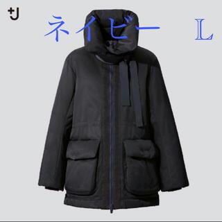 UNIQLO - ユニクロ +J ハイブリッドダウンショートコート ネイビー L