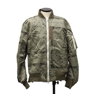 サカイ(sacai)のサイズ2 新品 完売品 sacai dr.woo ma-1 ジャケット(フライトジャケット)
