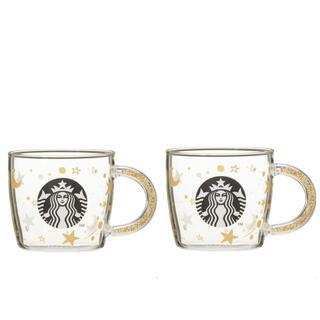 Starbucks Coffee - 新品未使用 スタバ ホリデー2020ビーズハンドル耐熱グラスマグスター296ml