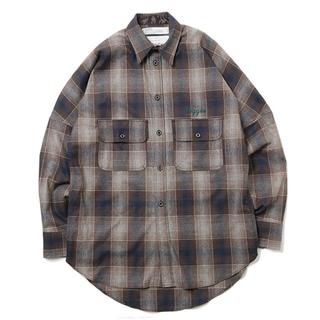 DAIRIKU Biggie Wool Shirts  GREEN