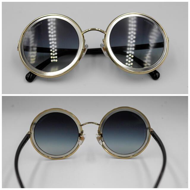 CHANEL(シャネル)のCHANEL ラウンドサングラスゴールド&シルバー グレーグラデーション  レディースのファッション小物(サングラス/メガネ)の商品写真