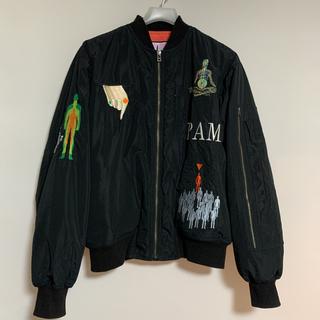 パム(P.A.M.)のPAM パム ma-1 米津玄師 着用 激レア p.a.m 刺繍(フライトジャケット)