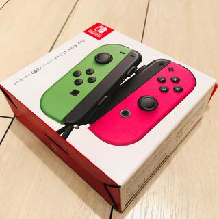 ニンテンドースイッチ(Nintendo Switch)の【新品未開封】任天堂 Switch ジョイコン ネオングリーン/ネオンピンク(その他)