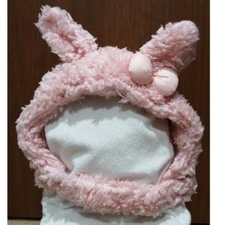 KP - ニットプランナー モコモコうさぎの冬用帽子
