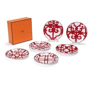 エルメス(Hermes)のエルメス ガダルキヴィール B.Bプレート皿 (17cm・6種) ×6枚セット!(食器)