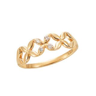 ジュエリーツツミ(JEWELRY TSUTSUMI)のK10YG ダイヤモンド(ピンキー)(リング(指輪))