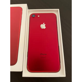 iPhone - iPhone 7 Red 128 GB SIMフリー  極美品