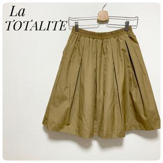 ラトータリテ(La TOTALITE)のLa TOTALTE ラトータリテ ウエストゴム 膝丈スカート F 日本製(ひざ丈スカート)