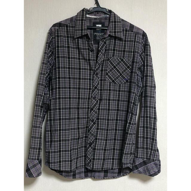 QUIKSILVER(クイックシルバー)のQUIKSILVER クイックシルバー メンズ チェック柄 長袖シャツ 紫 L メンズのトップス(Tシャツ/カットソー(七分/長袖))の商品写真