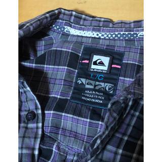 クイックシルバー(QUIKSILVER)のQUIKSILVER クイックシルバー メンズ チェック柄 長袖シャツ 紫 L(Tシャツ/カットソー(七分/長袖))