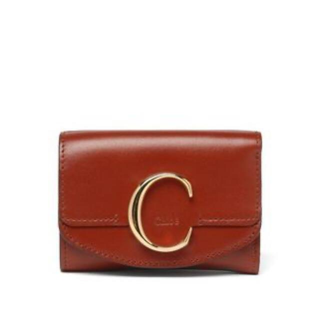 Chloe(クロエ)のまい様専用ページ 新品!クロエ Chloe C ロゴ レザー ブラウン ミニ財布 レディースのファッション小物(財布)の商品写真