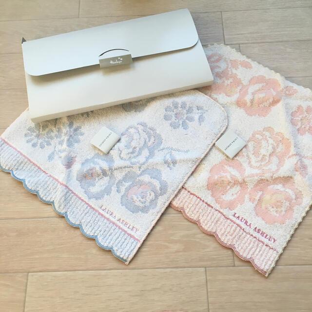 LAURA ASHLEY(ローラアシュレイ)のlaura ashleyハンカチ2枚セット レディースのファッション小物(ハンカチ)の商品写真