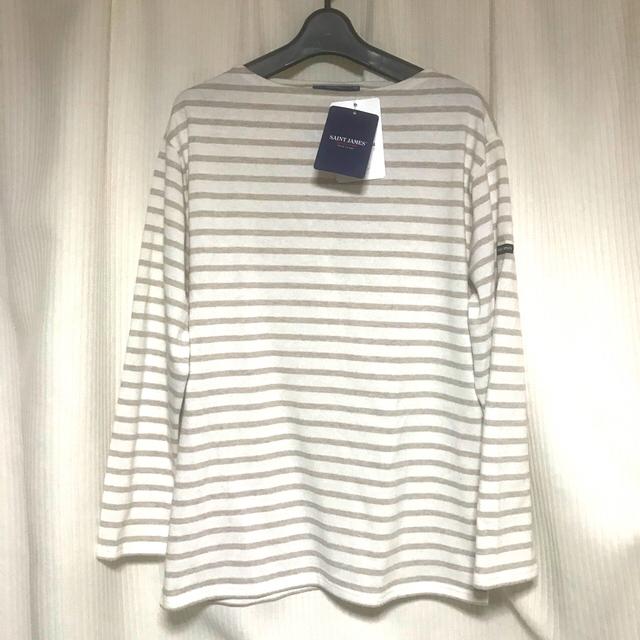 SAINT JAMES(セントジェームス)の【新品】セントジェームス ベージュ ボーダー メンズのトップス(Tシャツ/カットソー(半袖/袖なし))の商品写真