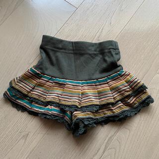 アナスイミニ(ANNA SUI mini)のアナスイミニ  キュロット ショートパンツ 100 ボーダー 秋冬カラー(パンツ/スパッツ)