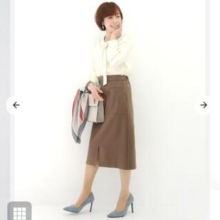cohina ポンチ素材タイトスカート