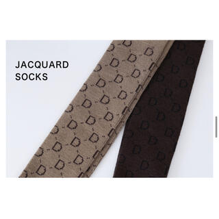 DEUXIEME CLASSE - Deuxieme Classe  jacquard socks ブラウン