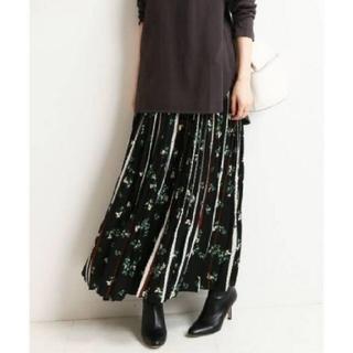 IENA - イエナ♡ドットフラワーロングプリーツスカート 38