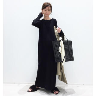 L'Appartement DEUXIEME CLASSE - L'Appartement Rib Knit ワンピース/ブラック