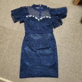 dazzy store - デイジーストア レース ネイビー ワンピ ドレス キャバ