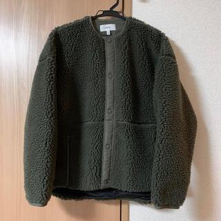 HYKE - HYKE ボア ショートコート ジャケット オリーブ サイズ1