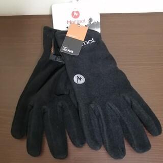 マーモット(MARMOT)の【新品】Marmot Fleece Glove Lサイズ 黒(登山用品)