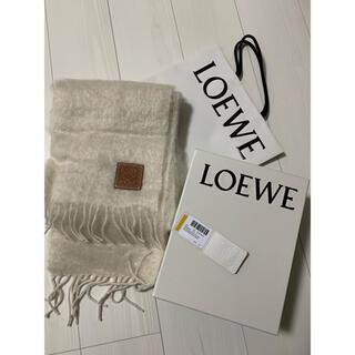 LOEWE - ロエベ  モヘアマフラー  ホワイト