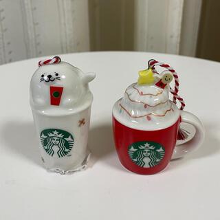 スターバックスコーヒー(Starbucks Coffee)の◆スターバックス ホリデーオーナーメント2個セット②STARBUCKS スタバ(その他)
