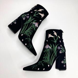 マメ(mame)のmame 刺繍 ブーツ マメ sacai dris(ブーツ)
