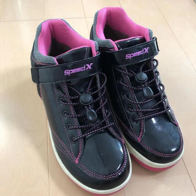 新品 クロスフィンガー 靴 スニーカー 女の子 レディース  防寒 24cm レディースの靴/シューズ(スニーカー)の商品写真